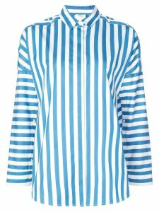 Akris Punto button detailed striped blouse - Blue