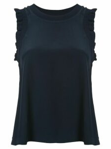 Cinq A Sept ruffle-trim tank top - Blue