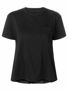 Sacai pleated sides T-shirt - Black