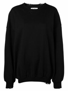 Almaz oversized distressed sweatshirt - Black