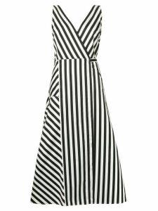 Anna October striped midi dress - Black