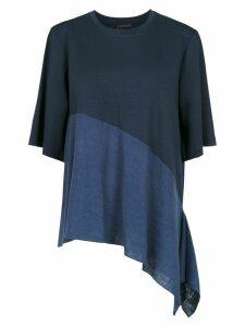 Alcaçuz panelled Flávia blouse - Blue