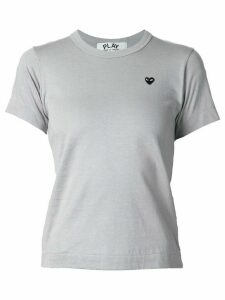 Comme Des Garçons Play embroidered heart T-shirt - Grey