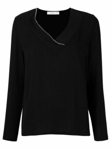 Fabiana Filippi V-neck top - Black