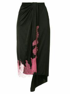 Walk Of Shame asymmetric hem midi skirt - Black