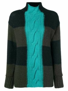 P.A.R.O.S.H. patchwork turtleneck sweater - Green
