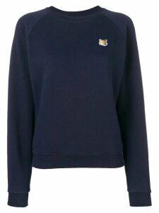 Maison Kitsuné Fox patch sweatshirt - Blue