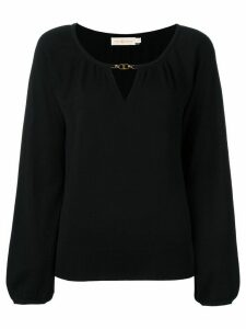 Tory Burch cashmere keyhole detail blouse - Black