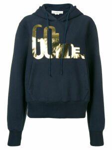 Golden Goose oversized logo hoodie - Blue