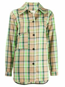 Tela checked shirt jacket - NEUTRALS