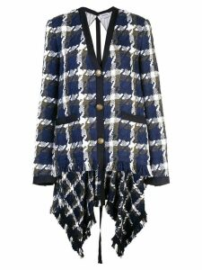 Monse check cardigan blazer - Blue