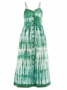 Arizona Love - Alma Tie-dye Cotton-twill Dress - Womens - Green Print
