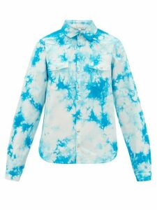 Arizona Love - Alba Tie-dye Cotton Shirt - Womens - Blue Print