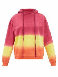 Arizona Love - Alexa Tie-dye Cotton Hooded Sweatshirt - Womens - Pink Print