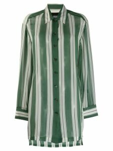 Marc Jacobs striped oversized shirt - Green