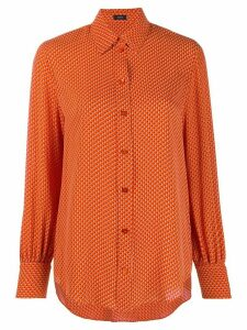 Joseph embroidered fitted shirt - ORANGE