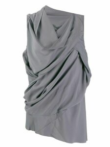 Rick Owens asymmetric draped blouse - Blue