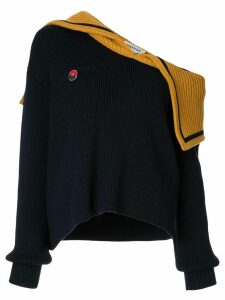 Monse off-shoulder sailor knit jumper - Blue