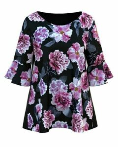 **Grace Pink Floral Print Blouse, Pink