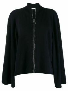 Givenchy wide sleeve zipped cardigan - Blue
