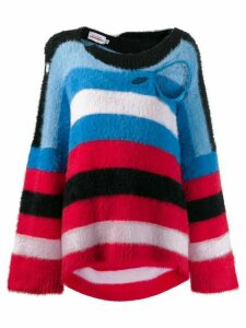 Charles Jeffrey Loverboy distressed striped sweater - Blue