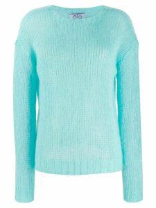 Prada open stitch jumper - Blue