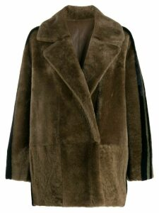 Blancha reversible oversized jacket - NEUTRALS