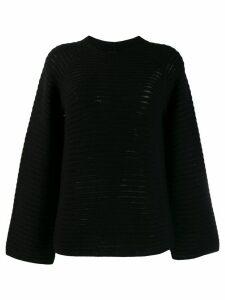 Theory ribbed knit jumper - Black