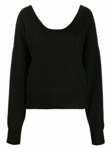 See by Chloé slouched knit jumper - Black