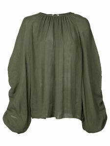 Rochas ruched sleeve blouse - Green
