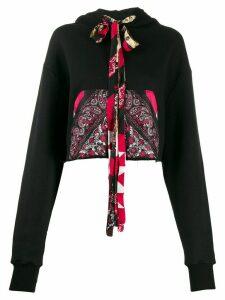 Alanui sik pocket hoodie - Black