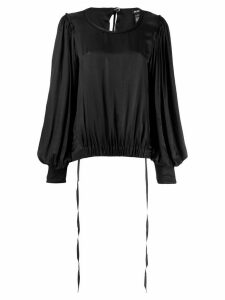 Ann Demeulemeester elasticated waist blouse - Black