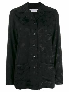 Victoria Victoria Beckham jacquard print shirt - Black