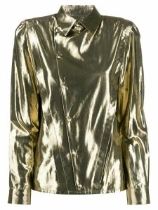 Saint Laurent asymmetric metallic shirt - GOLD