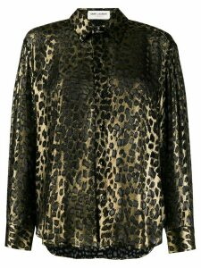 Saint Laurent leopard print shirt - Black
