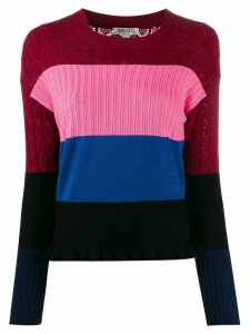 Kenzo panelled multi-knit jumper - PINK
