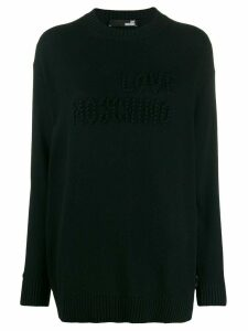 Love Moschino pompom detail jumper - Black