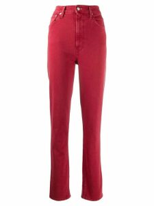 Helmut Lang high-waisted skinny jeans - Red