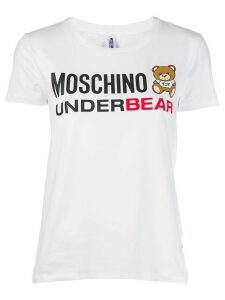 Moschino printed logo bear T-shirt - White