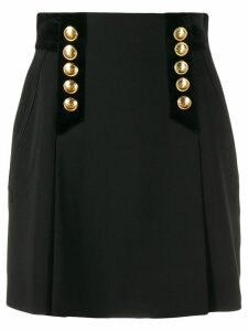 Alberta Ferretti button detail mini skirt - Black