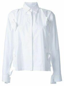 Roberts Wood bow detail split shirt - White