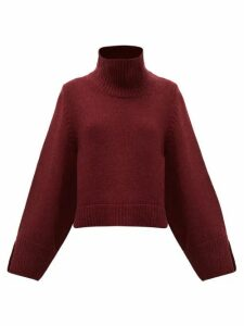 Khaite - Marion Roll-neck Cashmere Sweater - Womens - Burgundy