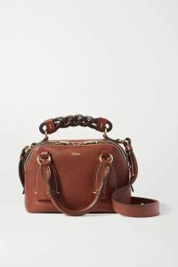Chloé - Daria Small Textured And Smooth Leather Tote - Brown