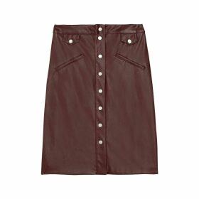 FIONA Straight Buttoned Skirt