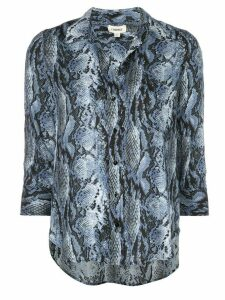 L'Agence snake-print shirt - Blue