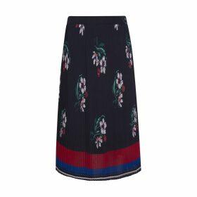 Nini Pleated Midi Skirt in Floral Print