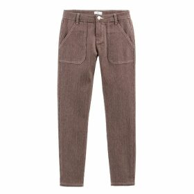 Regular Straight Leg Jeans with Narrow Stripes, Length 26.5