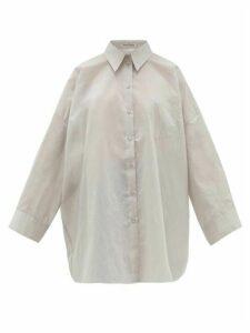 Acne Studios - Suky Oversized Cotton-blend Shirt - Womens - Light Grey