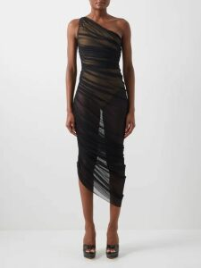 Raey - Long-sleeved Silk-satin Blouse - Womens - Black