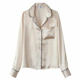 Satin Look Tailored Collar Shirt